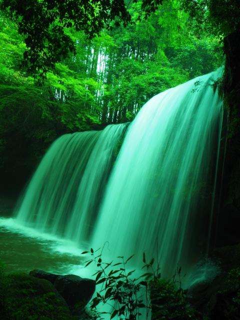 株式会社ジャストライト浪岡智がお送りする熊本県小国町の「鍋ヶ滝」についてのイメージ画像